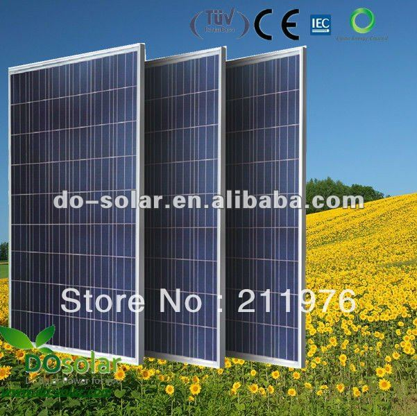 Free shipping--220W POLY Solar Panel, with high efficiency Grade A 156x156 solar cells, in stock on sale directly in stock(China (Mainland))