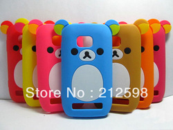 1 Piece + Free shipping,Cute Bear Silicon Case for Nokia Lumia 710 Nokia 710, 8 colors , retail package(China (Mainland))