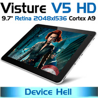 "original 9.7"" Visture V5 HD retina tablet  IPS Retina screen 2048x1536  16GB/2GB Android 4.1 bluetooth wifi  free shipping"