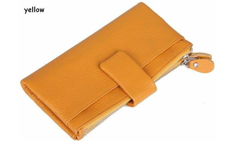 2011 NEW! rose 100% GENUINE LEATHER women&men's multifunction wallets,2 money places,12 card places,2 zipper coin purses,W004(China (Mainland))