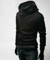 New 1pc Mens Casual Oblique Front Zipper Hoodies Tops Sweater Jackets Coats PICK Colors 70527-70538