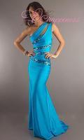 hot sale mermaid evening gown one-shoulder formal evening dresses