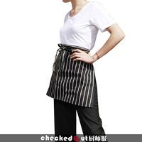 Cotton black white stripes moocha chef apron work waiter cook chef bar hotel bar cafe restaurant patisserie free ship wholesale