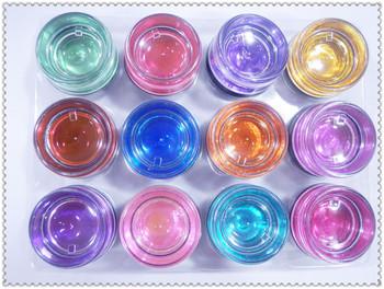 Left nail art glue phototherapy multicolour 12 colored glaze glue set uv plastic color colored glaze gel 12 8ml