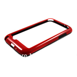 Black/Red TPU Frame Bumper Cover Case Skin For Samsung Galaxy Note 2 GT-N7100 DC1060RB Free shipping(China (Mainland))