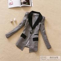 2012 women's autumn outerwear shoulder pads ol medium-long slim casual blazer