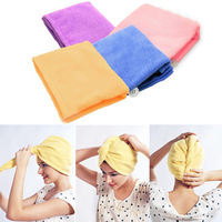 1pc Magic Microfiber Twist Hair Dryer Drying Towel Turban Cap Hat Head Wrap New A1148