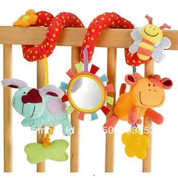 Free shipping 2pcs= 1 lot Baby gift MIC Elc multifunctional baby bed hanging car hanging newborn toy, Baby Rattles/baby mobiles