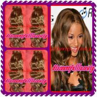 AAAAA 2013 Best selling 16'' #33 100% Brazilian virgin hair extension- Loose wave unprocessed human hair machine made weft
