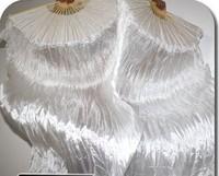 20pcs/lot brand new dance WHITE fan veil/belly dance fan veil/silk fan veil/belly dance accessory