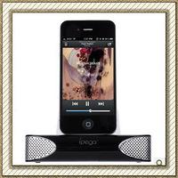 Ipega Stereo Speaker Amplifer Charger For Iphone 3G 4G,Speaker Charging Dock For Iphone 4 4S Free Shipping