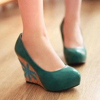free shipping 2013 new arrive wedges ultra high  women's platform pumps
