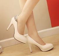 free shipping Fashion pumps rhinestone plus size high-heeled women shoes