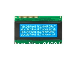 Free Shipping(10pcs/lot) LCD2004 20x4 Character LCD Display Module HD44780 Controller blue backlight(China (Mainland))