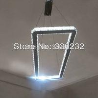 Modern LED   Rectangle crystal chandelier lighting fixture  800*216mm