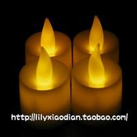 Led electronic candle electronic candle lights yellow electronic candle switch