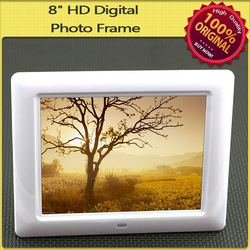"8"" TFT LCD MULTI-FUNCTIONAL DIGITAL PHOTO/PICTURE FRAME W/ REMOTE SCA-0819-White(China (Mainland))"
