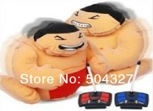 Free Shipping 1Pair Battery Powered Inflatable RC Sumo Wrestlers Toy with 2 Remote Controllers for Children Kids(China (Mainland))