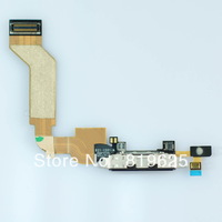 [10Pcs/Lot Free Shipping] For iPhone 4s USB flex cable Charging Port Dock Connector Ribbon flex cable for 4s usb connect dock