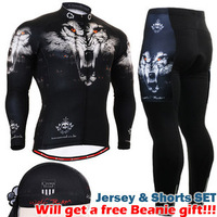 {NO.QXFG1801}Hot Sale!2013  FIXGEAR   Spring&Autumn Polyester Cycling / Bicycle /Bike Long Sleeve Jersey + Cycling Pants