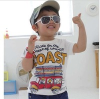 Korean version of summer COAST car cotton Tong T-shirt