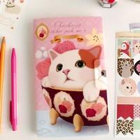 Free shipping cute kitty style masking sticker pack (8 sheets/set) (2 sets /lot)