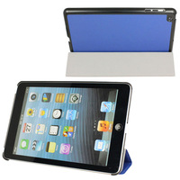 3 Fold Smart Cover Slim Magnetic PU Leather Case Sleep Wake Stand for iPad Mini Free shipping & Wholesale