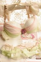 Women Bra set 2014 Sexy Underwear Women Flower Push Up Chiffon Sweet Lace Butterfly Strap Young Girl Underwear Bra Sets