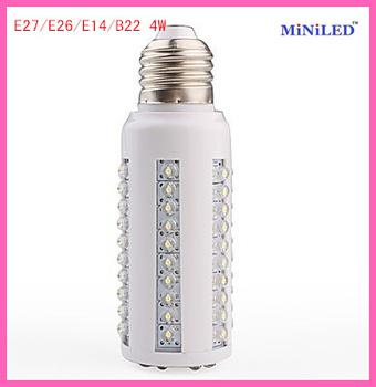 Super bright  5pcs E27 67 F5 straw led 4w white/warm white led corn bulb lamp lighting  free shipping