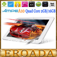 10.1inch tablet Ampe A10 Ultimate Quad core A31 Android 4.1 Tablet PC 10.1inch IPS 1280x800px 2GB RAM Bluetooth HDMI Dual camera
