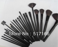 Free shipping Professional  Cosmetic Facial Makeup Brushes Kit MakeUp Brush Set Tools Goat Hair Set with Bag Black