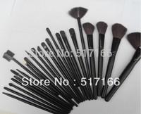 Free shipping Professional  Cosmetic Facial Makeup Brushes Kit MakeUp Brush Set Tools Goat Hair Set with Bag Black