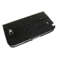 HK post free shipping Crocodile Pattern Wallet Case for Samsung Galaxy Note 2 N7100 Stand Cover With Card Slots Accessories
