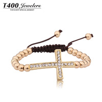 Hot sale T400 made with Austrian crystal bracelet,for women,Fashion jewelry Exaggerated Corss bracelet #W3013, free shipping