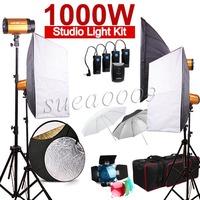 NEWEST Godox 1000Ws 4 x 250W 250SDI Studio Flash Light with Carry Bag Soft Box kit