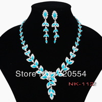 (min order $15 with free shipping) (Min order $15)Free shipping  resin jewelry set with rhinestone silver jewelry sets