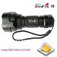 UltraFire C8 CREE XM-L2 U2 1400LM SMO 5-Mode LED Flashlight (1 x 18650)