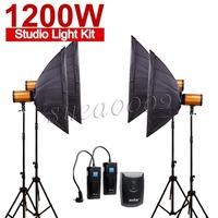 Pro GODOX 1200Ws 4*300Ws 300W Studio Strobe Photo Light 1200W Kit