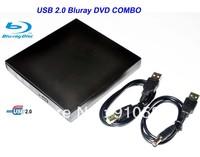 Free shipping, USB 2.0 External Ultrabook Blu-Ray Drive, Blu-ray 3d Movie Player BLU RAY BD-ROM 3D BLU-RAY Drive