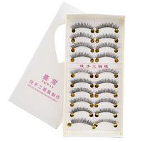 Handmade cotton false eyelashes 162 cross paragraph lengthening eyelash bushy natural 10 Brushes Factory Outlet