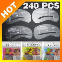 Best selling! Thrush card thrush plate eyebrowleine template eyebrow templateow 60 sets of 240   eyebrow shape Free shipping