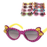 Children's Day gift! Kids Bow Knot Heart Shape Sunglasses Children's Sun Glasses Boy Girl sunglasses