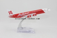 16cm Airplane Plane Model Red Air Asia A340 Airlines Aircraft Metal Airways Model Diecasts Souvenir Toy Vehicles Children Gifts