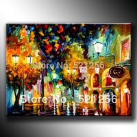 Free Shipping Modern Handpainted Oil Paintings Art Deco Rainny Day BLA417