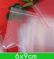 New Clear PE bags (6x9cm) resealable Poly bags,zipper bag for wholesale + free shipping 1000pcs/lot