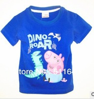 free shipping 2013 summer new Wholesale Children girls kids brand peppa pig cotton t shirt Baby clothing shorts 5pcs/lot