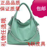 Free shipping 2013 hot-selling women's fashionable candy color PU leather handbag ladies casual leather chain bag 8colors