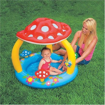 Intex swimming pool 57407 mushroom baby sun-shading paddling pool bathtub inflatable sand pool