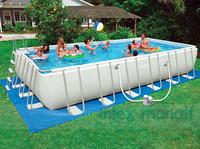 Rectangle framework of the pool intex 54978 large tube rack swimming pool