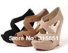 2013 Women's Wedge High Heels Platform Back Zip Sandals Shoe10cm heel  3 color 35-39